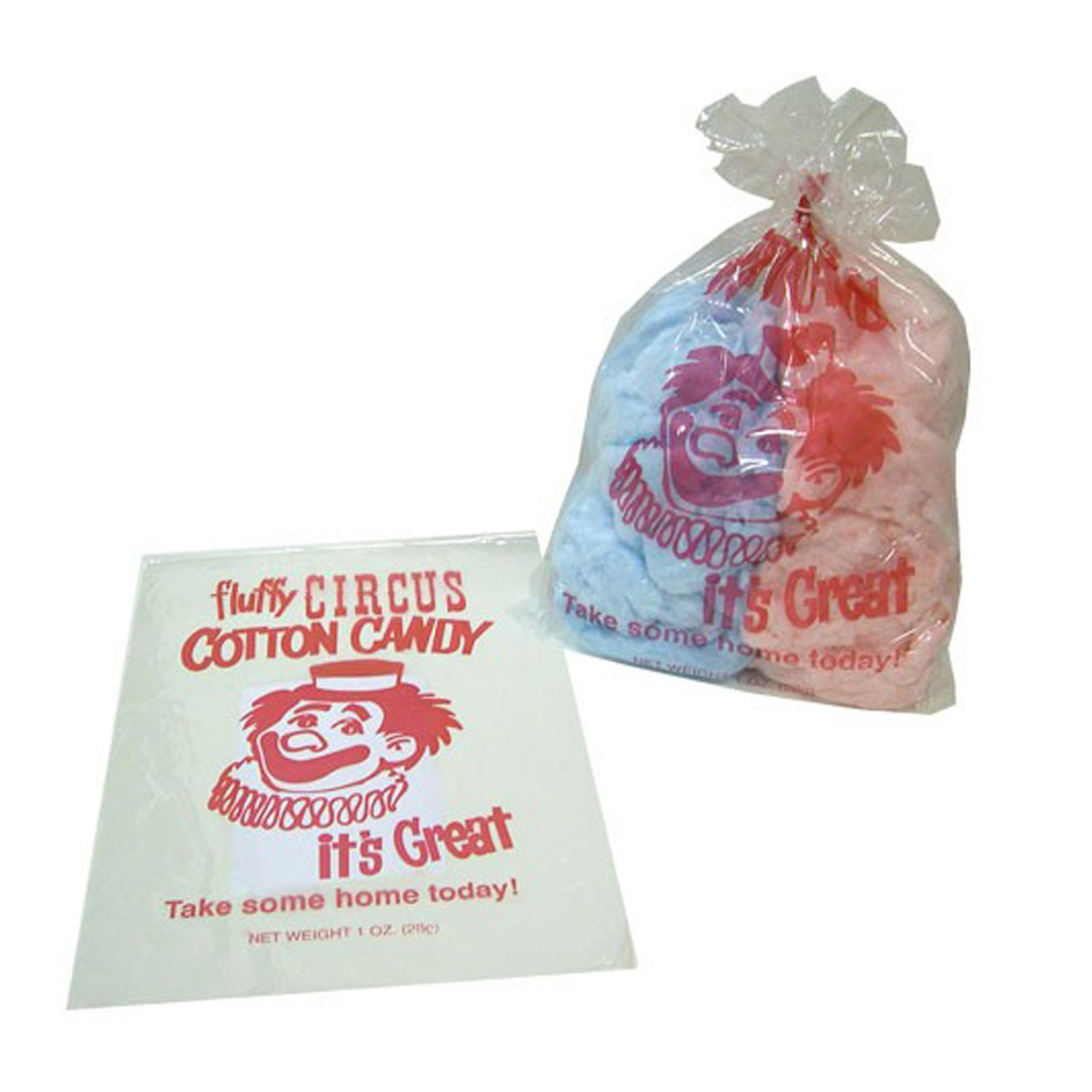 Red Clown Design Cotton Candy Bags