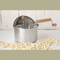 whirley pop stovetop popcorn popper with metal gears stainless steel